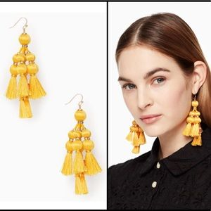 Kate Spade Pretty Poms Tassel Statement Earrings